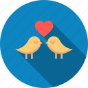 birds, day, heart, love, romantic, valentine