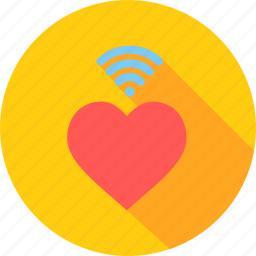 day, heart, love, romantic, valentine, wifi, wireless icon