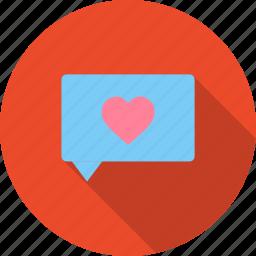 chat, day, love, message, romantic, valentine icon