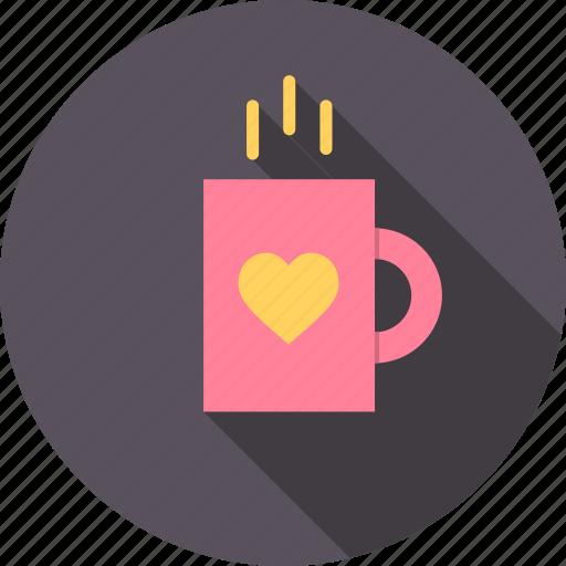 coffee, cup, day, love, mug, romantic, valentine icon