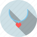 day, gift, jewelery, love, necklace, romantic, valentine icon