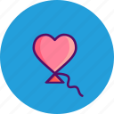 day, heart, kite, kites, love, romantic, valentine icon