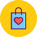 bag, carry, day, love, romantic, valentine, valentines icon