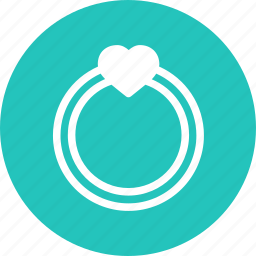 day, heart, love, ring, romantic, valentine, wedding icon