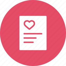 day, heart, letter, love, poem, romantic, valentine icon