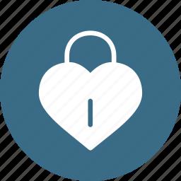 day, heart, lock, love, romantic, valentine, valentines icon