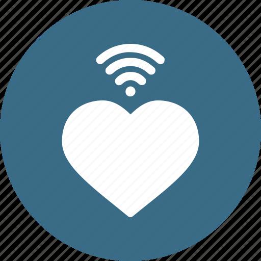 day, heart, love, romantic, valentine, wifi, wireless icon