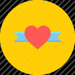 day, gift, heart, love, ribbin, romantic, valentine icon