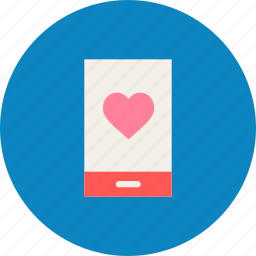 day, heart, love, message, mobile, romantic, valentine icon