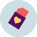 chocolate, day, heart, love, romantic, valentine, valentines icon