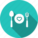 date, day, dinner, love, romantic, snacks, valentine icon