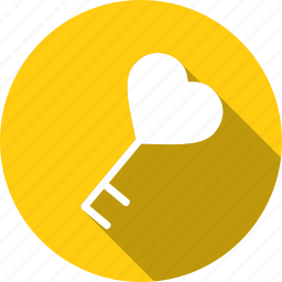 heart, key, love, relationship, romantic, unlock, valentine icon