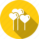 balloons, day, heart, love, romantic, valentine, valentines icon