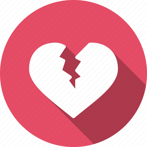 broken, day, heart, love, romantic, valentine, valentines icon