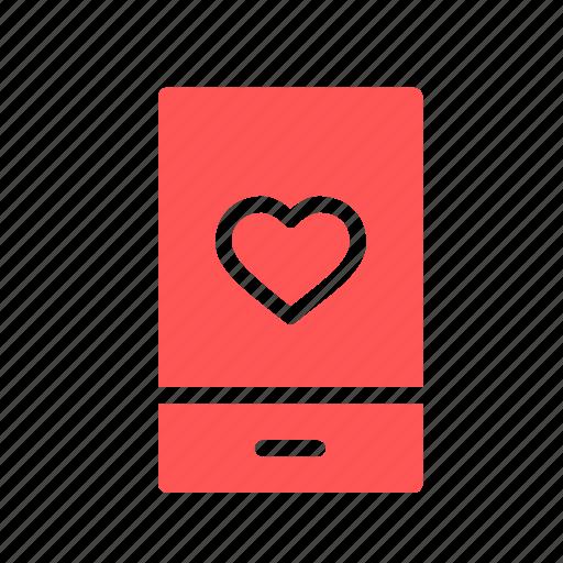 day, heart, love, message, mobile, romantic, valentine icon