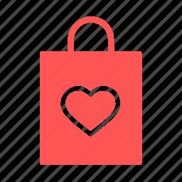 bag, carry, day, love, romantic, valentine, valentines icon