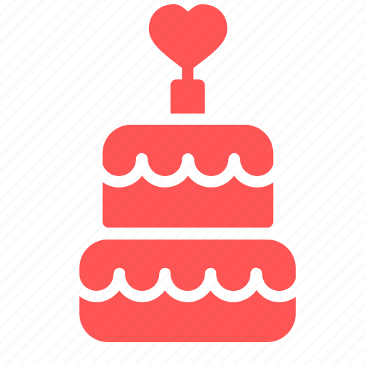 birthday, cake, dessert, happy, heart, love, romantic icon
