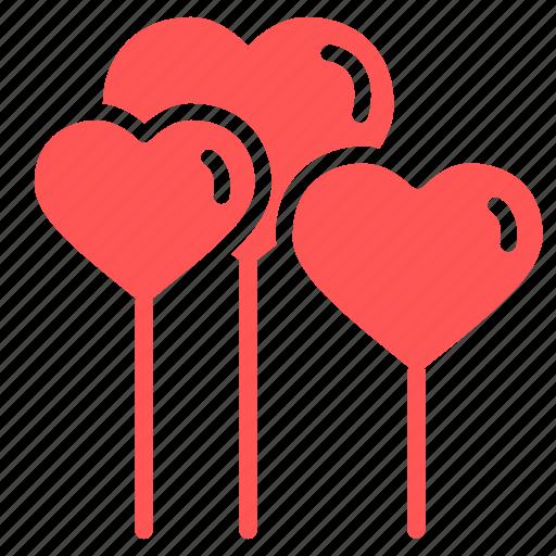 balloons, day, heart, love, romantic, valentine, valentines icon