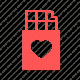 chocolate, day, heart, love, romantic, valentine, valentines icon