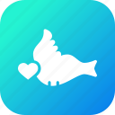 bird, couple, day, heart, love, romantic, valentine icon