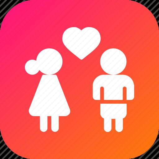 couple, day, heart, love, romantic, valentine icon