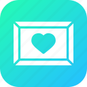 day, frame, love, memory, photo, romantic, valentine icon