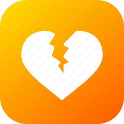 broken, day, heart, love, romantic, valentine, valentines icon