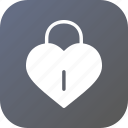 day, heart, lock, love, romantic, valentine, valentines icon