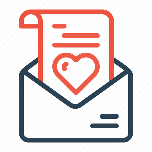 communication, envelope, heart, letter, love, message, valentine icon