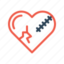 bakeup, break, heart, love, relation, sorry, valentine icon