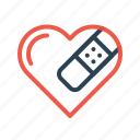 break, heart, love, moveon, relation, sorry, valentine icon