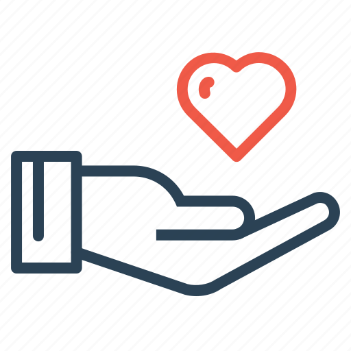care, feel, gentleman, hand, heart, love, valentine icon