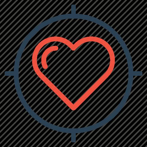 Heart, im, love, search, target, true, valentine icon - Download on Iconfinder