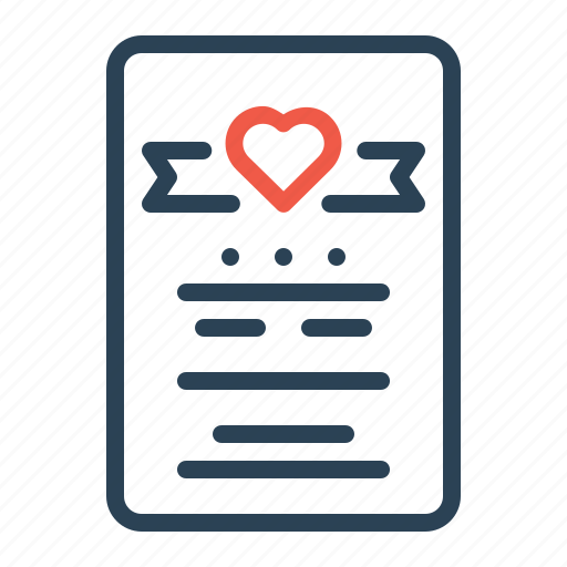Love, gift, greeting, valentine, note, letter, card icon
