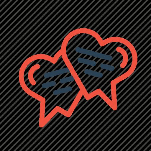 chat, chatting, love, message, talk, valentine icon