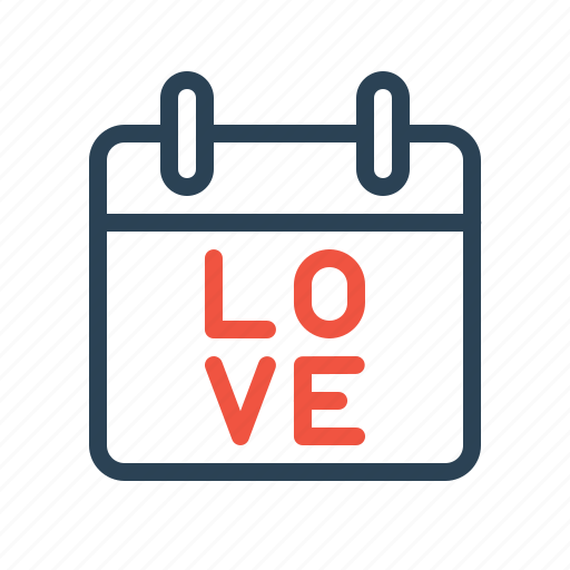 calendar, day, gift, iloveyou, love, present, valentine icon