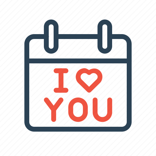 Calendar, day, iloveyou, love, propose, reminder, valentine icon - Download on Iconfinder