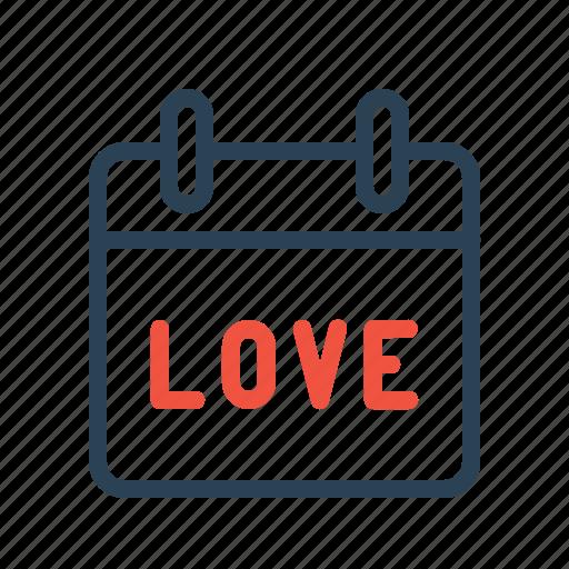 Calendar, date, day, love, reminder, valentine icon - Download on Iconfinder