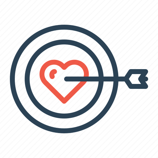 achieve, find, love, person, target, true, valentine icon