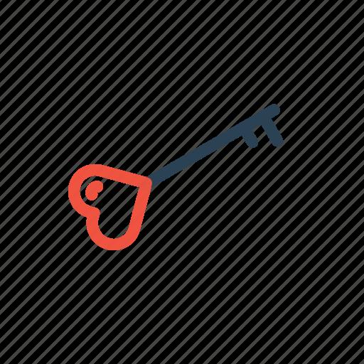 feel, key, lock, love, safe, true, valentine icon