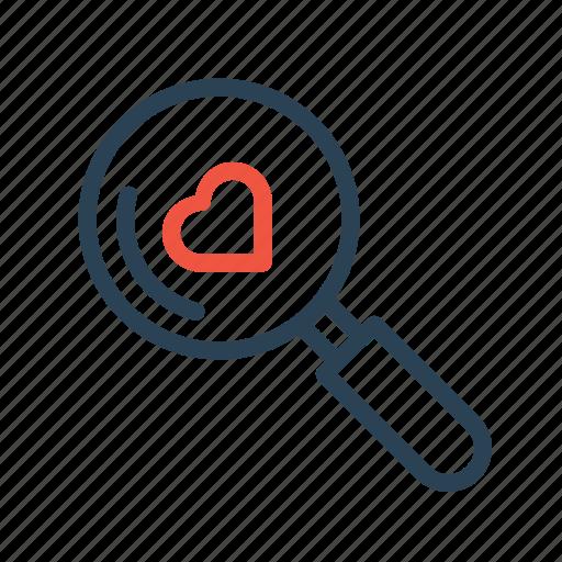 find, heart, love, relation, search, true, valentine icon