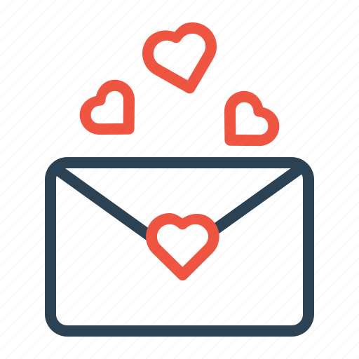 Love, communication, envelope, valentine, letter, mail, message icon