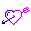 achieve, cupid, heart, love, target, true, valentine icon