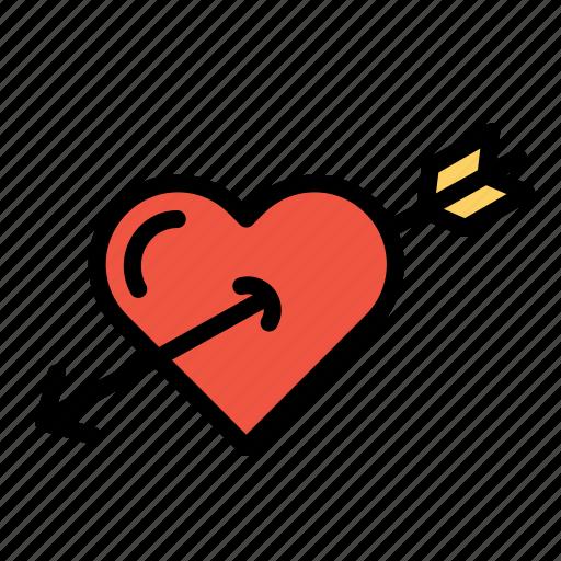 achieve, cupid, heart, love, target, true, valentine icon