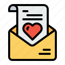 communication, envelope, heart, letter, love, message, valentine