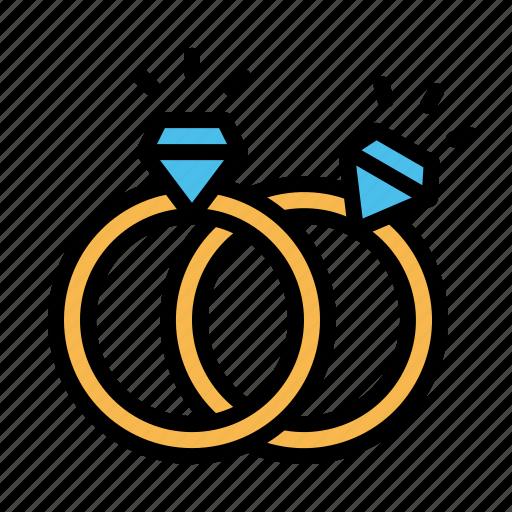 diamond, engagement, love, propose, ring, valentine icon