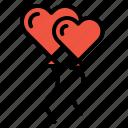 propose, balloon, valentine, decoration, setup, celebrate