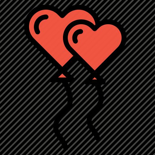 balloon, celebrate, decoration, propose, setup, valentine icon