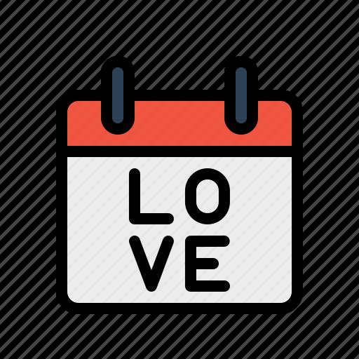 calendar, care, day, gift, love, present, valentine icon