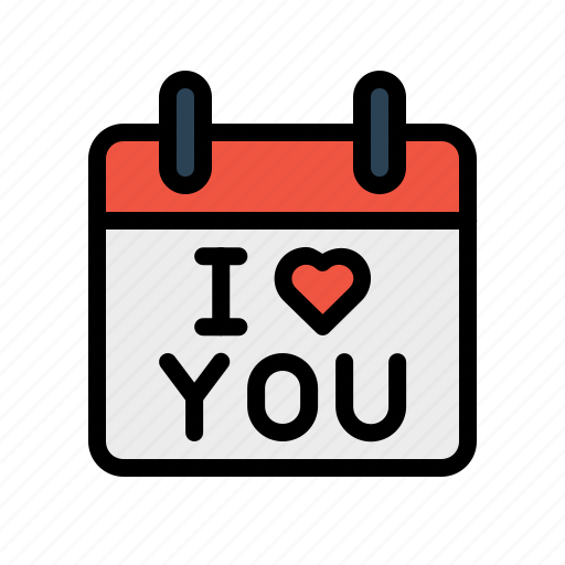 calendar, day, iloveyou, love, propose, reminder, valentine icon